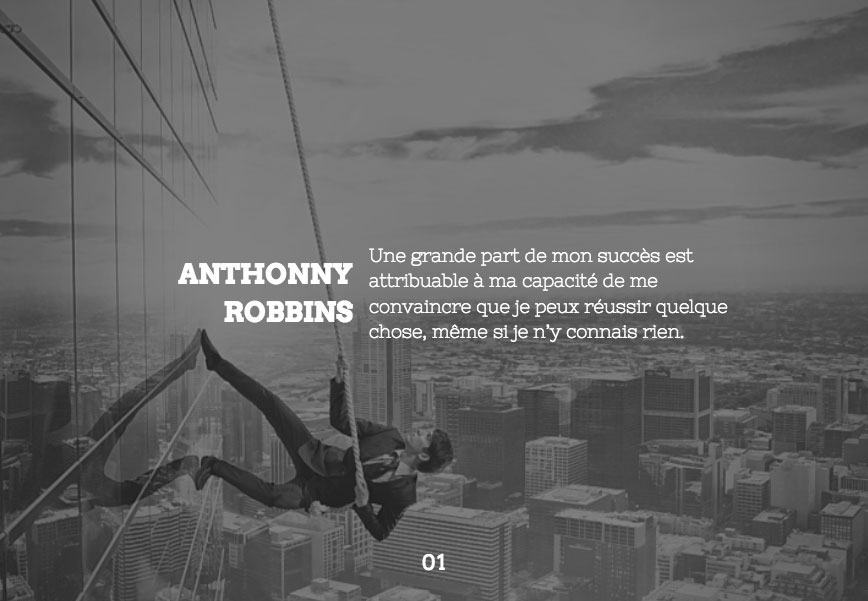 Citation d'Anthonny Robins