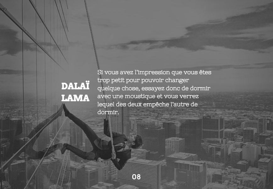 Citation du Dalaï Lama
